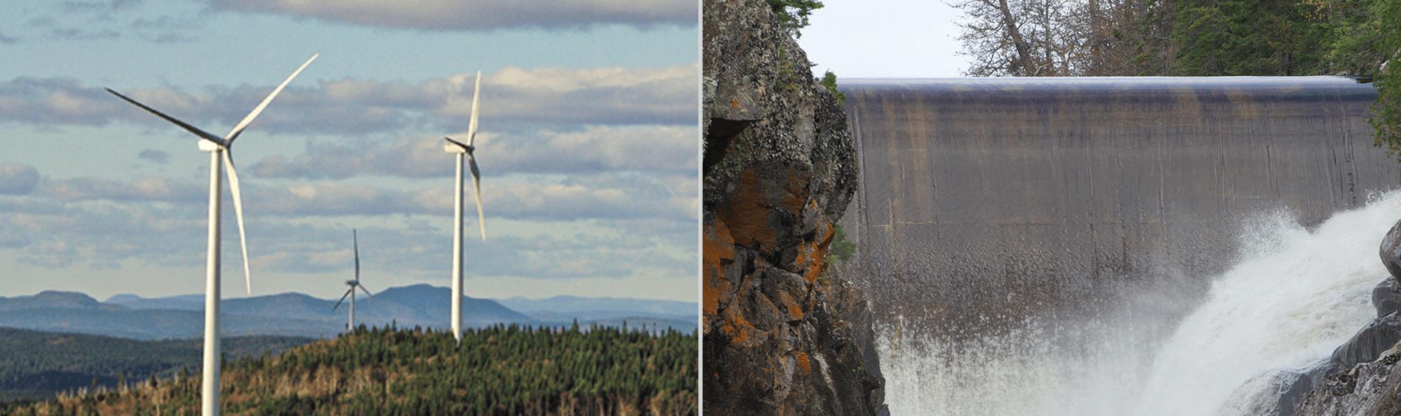 Parc éolien Carleton - Centrale hydroélectrique Umbata Falls
