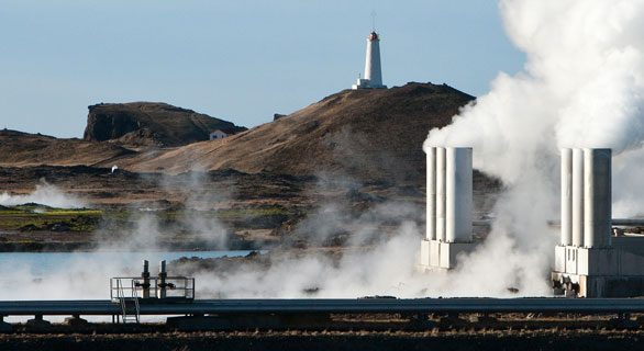 Geothermal energy icon